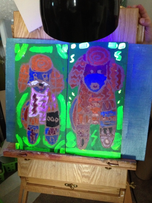 Their painting glows!